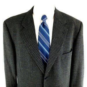 Joseph Abboud 42R 2 Button Tweed Check Wool Sport